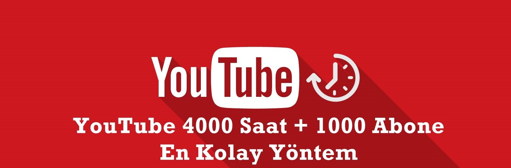 Youtube 4000 Saat İzlenme satın al - Youtube Abone Satın Al